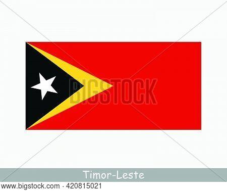 National Flag Of East Timor. Timor-leste Country Flag. Democratic Republic Of Timor-leste Detailed B