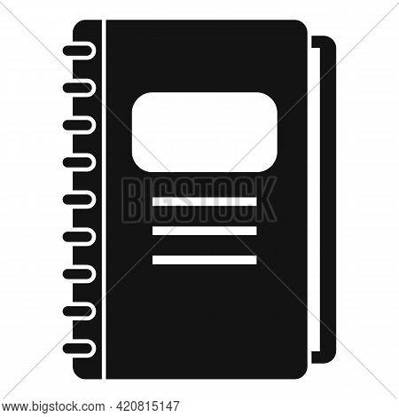 Syllabus Daily Notebook Icon. Simple Illustration Of Syllabus Daily Notebook Vector Icon For Web Des