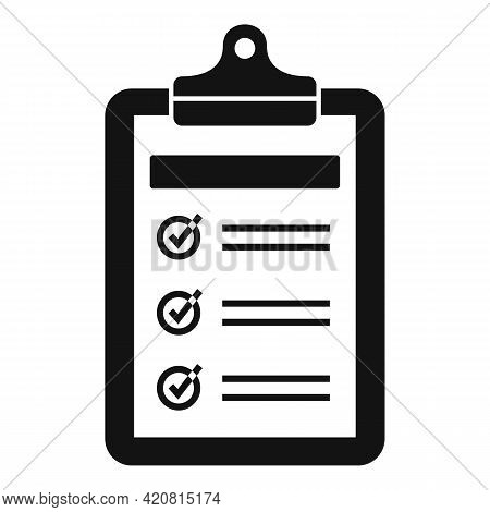 Syllabus Daily Clipboard Icon. Simple Illustration Of Syllabus Daily Clipboard Vector Icon For Web D