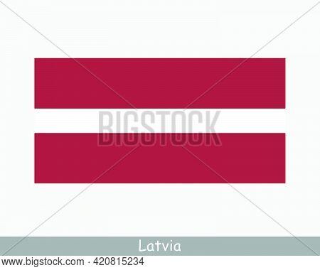 National Flag Of Latvia. Latvian Country Flag. Republic Of Latvia Detailed Banner. Eps Vector Illust