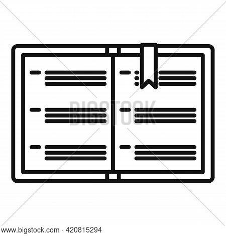 Syllabus Instruction Book Icon. Outline Syllabus Instruction Book Vector Icon For Web Design Isolate