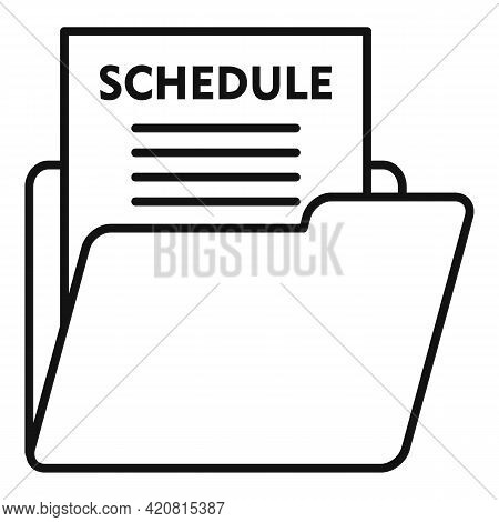 Syllabus Schedule Icon. Outline Syllabus Schedule Vector Icon For Web Design Isolated On White Backg