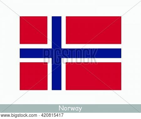 National Flag Of Norway. Norwegian Country Flag. Kingdom Of Norway Detailed Banner. Eps Vector Illus