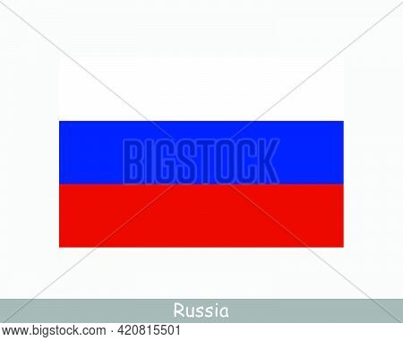 National Flag Of Russia. Russian Country Flag. Russian Federation Detailed Banner. Eps Vector Illust