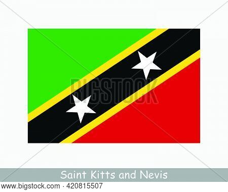 National Flag Of Saint Kitts And Nevis. Federation Of Saint Christopher And Nevis Country Flag Detai