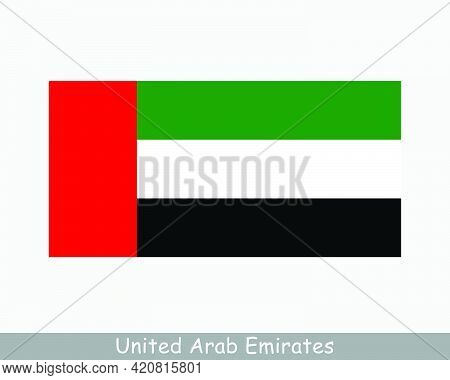 National Flag Of United Arab Emirates. Uae Country Flag. Emirati Detailed Banner. Eps Vector Illustr