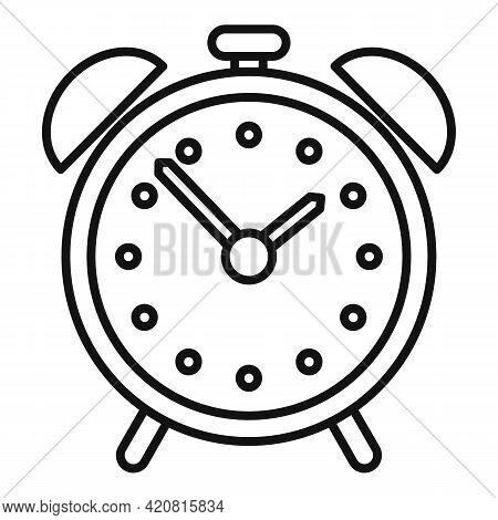 Syllabus Alarm Clock Icon. Outline Syllabus Alarm Clock Vector Icon For Web Design Isolated On White