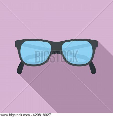 Granpa Eyeglasses Icon. Flat Illustration Of Granpa Eyeglasses Vector Icon For Web Design