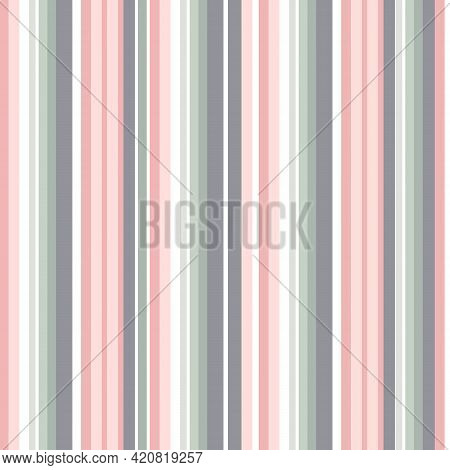 Serape Seamless Pattern Of Multicolored Pastel Stripes In Mexican Traditional Style. Bright Vibrant