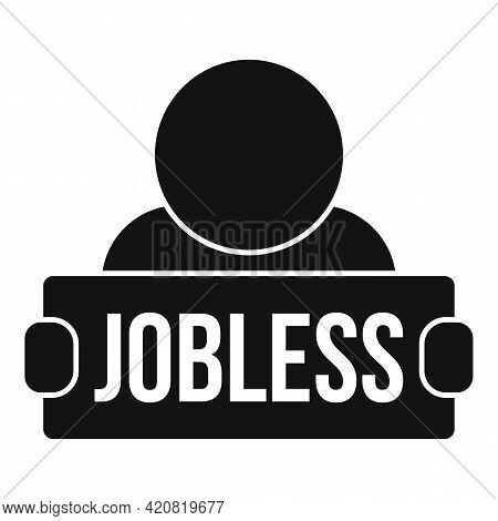 Jobless Student Icon. Simple Illustration Of Jobless Student Vector Icon For Web Design Isolated On