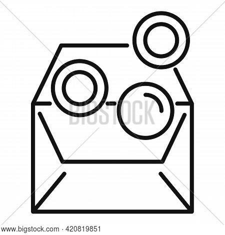Employee Coins Benefit Icon. Outline Employee Coins Benefit Vector Icon For Web Design Isolated On W