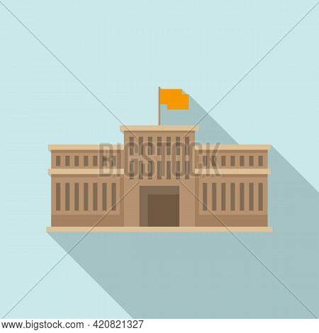 Parliament Building Icon. Flat Illustration Of Parliament Building Vector Icon For Web Design