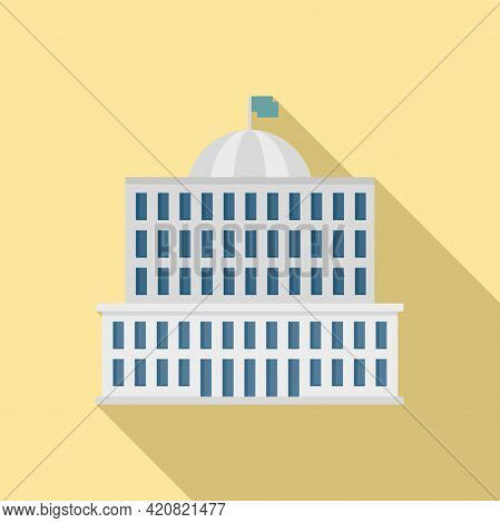 Town Parliament Icon. Flat Illustration Of Town Parliament Vector Icon For Web Design