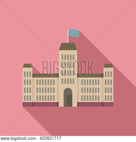 Parliament Construction Icon. Flat Illustration Of Parliament Construction Vector Icon For Web Desig