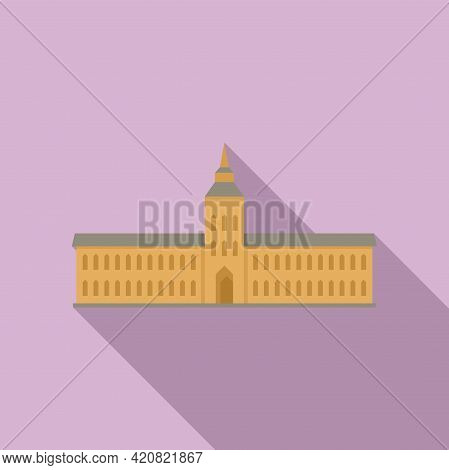 Parliament Hall Icon. Flat Illustration Of Parliament Hall Vector Icon For Web Design