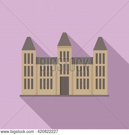 Parliament House Icon. Flat Illustration Of Parliament House Vector Icon For Web Design