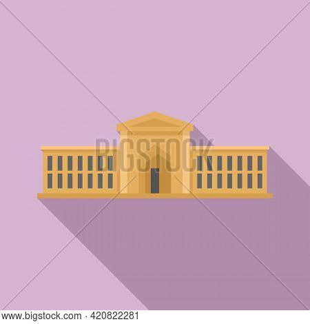 Urban Parliament Icon. Flat Illustration Of Urban Parliament Vector Icon For Web Design