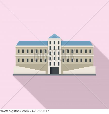 Residential Parliament Icon. Flat Illustration Of Residential Parliament Vector Icon For Web Design