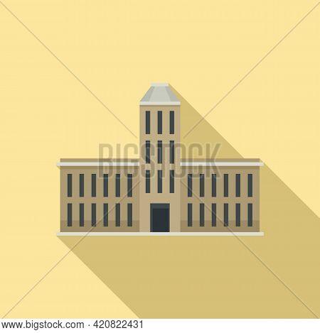 Governance Building Icon. Flat Illustration Of Governance Building Vector Icon For Web Design
