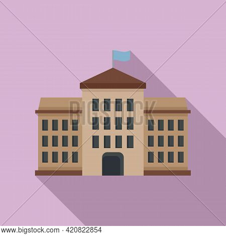 Tower Parliament Icon. Flat Illustration Of Tower Parliament Vector Icon For Web Design