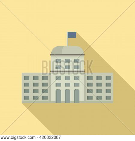 Flag Parliament Icon. Flat Illustration Of Flag Parliament Vector Icon For Web Design