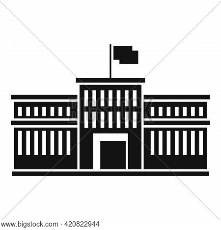 City Parliament Icon. Simple Illustration Of City Parliament Vector Icon For Web Design Isolated On