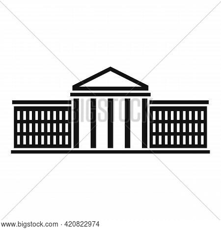 Country Parliament Icon. Simple Illustration Of Country Parliament Vector Icon For Web Design Isolat
