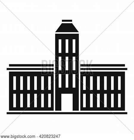 Municipal Building Icon. Simple Illustration Of Municipal Building Vector Icon For Web Design Isolat