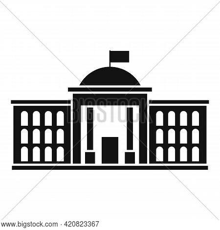 Parliament Institution Icon. Simple Illustration Of Parliament Institution Vector Icon For Web Desig