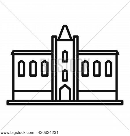 Parliament Property Icon. Outline Parliament Property Vector Icon For Web Design Isolated On White B