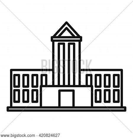 Public Parliament Icon. Outline Public Parliament Vector Icon For Web Design Isolated On White Backg