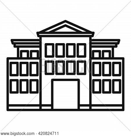 History Parliament Icon. Outline History Parliament Vector Icon For Web Design Isolated On White Bac