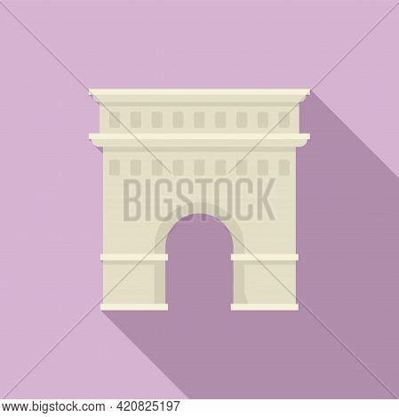 Temple Sightseeing Icon. Flat Illustration Of Temple Sightseeing Vector Icon For Web Design