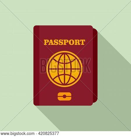 Travel Passport Icon. Flat Illustration Of Travel Passport Vector Icon For Web Design