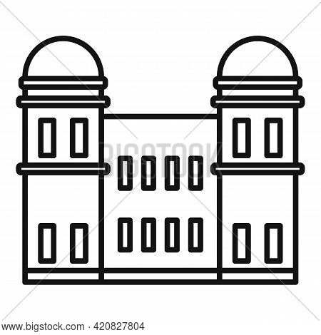 Tourism Sightseeing Icon. Outline Tourism Sightseeing Vector Icon For Web Design Isolated On White B
