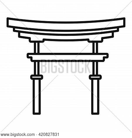 China Sightseeing Icon. Outline China Sightseeing Vector Icon For Web Design Isolated On White Backg