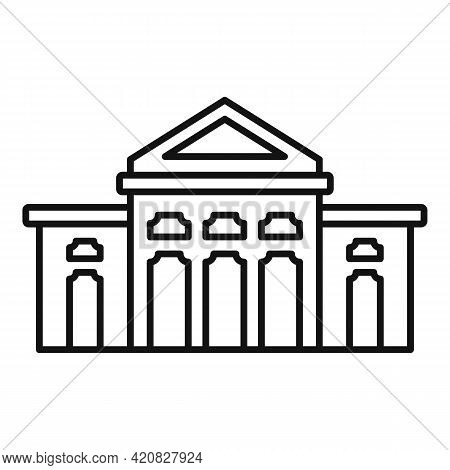 Cathedral Sightseeing Icon. Outline Cathedral Sightseeing Vector Icon For Web Design Isolated On Whi