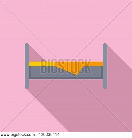 Nursing Bed Icon. Flat Illustration Of Nursing Bed Vector Icon For Web Design