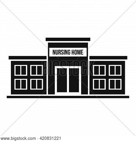 Nursing Home Icon. Simple Illustration Of Nursing Home Vector Icon For Web Design Isolated On White