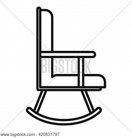 Nursing Chair Icon. Outline Nursing Chair Vector Icon For Web Design Isolated On White Background