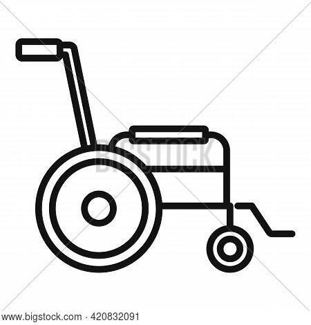 Nursing Wheelchair Icon. Outline Nursing Wheelchair Vector Icon For Web Design Isolated On White Bac