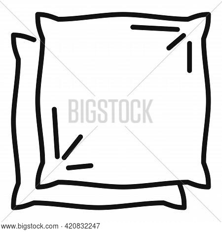 Pillows Icon. Outline Pillows Vector Icon For Web Design Isolated On White Background