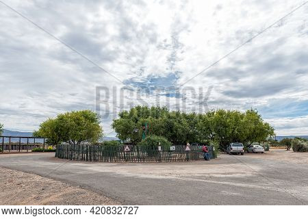 Beaufort West, South Africa - April 2, 2021: Scene At The Shed Farm Stall To The North Of Beaufort W