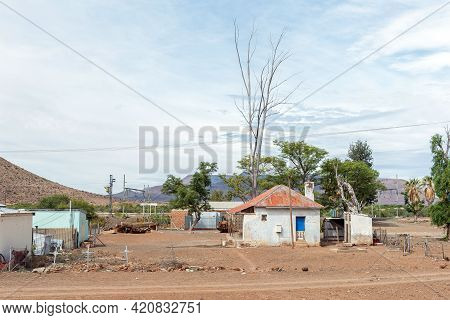 Nelspoort, South Africa - April 2, 2021: Buildings At The Railroad Station At Nelspoort In The Weste