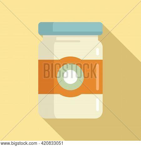 Molecular Cuisine Jar Icon. Flat Illustration Of Molecular Cuisine Jar Vector Icon For Web Design