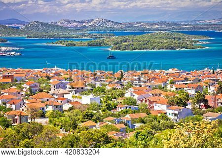 Croatian Island Archipelago And Town Of Murter, Dalmatia Islands Of Croatia