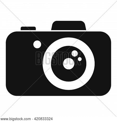 Security Service Camera Icon. Simple Illustration Of Security Service Camera Vector Icon For Web Des