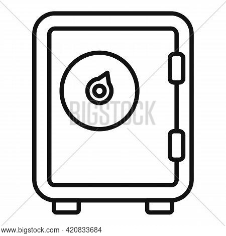 Security Service Money Safe Icon. Outline Security Service Money Safe Vector Icon For Web Design Iso