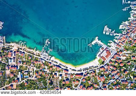 Town Of Murter Waterfront Aerial View, Murter Island Archipelago  In Dalmatia, Croatia