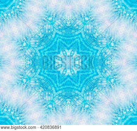 Bright Blue And White Background With Abstract Water Ripples Pattern